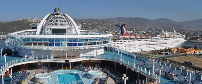 The Ruby Princess cruise dock for the first time to the port of Ensenada